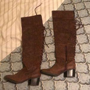 Cognac Knee High Boots ✨